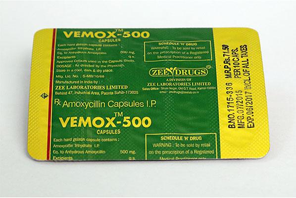 Hud i Norge: lave priser for Vemox 500 i Norge: